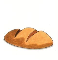 Clipart brood School Themes, Food Illustrations, Food Items, Pain, Household Items, Clip Art, Restaurant, Bread, Printable Recipe