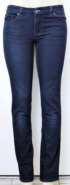 "EUC Calvin Klein Straight leg Jeans Pants Blue Dark wash 27/4 Women's 31"" Inseam #CalvinKlein #StraightLeg"