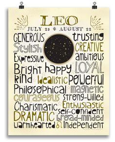 Leo • Zodiac Print - Anne Garrison Studio