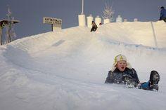 Sledding in the Stone Village, January 2015. Juuka, Finland.   - photo by TU/e, Bart van Overbeeke -