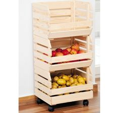 Utility crates with casters - possible use of my material (cast polyamide which I can produce) for the casters Kitchen Organization, Organization Hacks, Decoration Palette, Palette Deco, Diy Furniture Projects, Diy Projects To Try, Organizer, Woodworking Projects Plans, Sweet Home