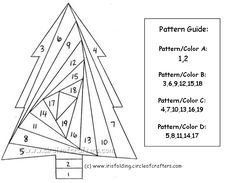 free iris paper folding patterns | Iris Folding @ CircleOfCrafters.com: Free Tree Pattern