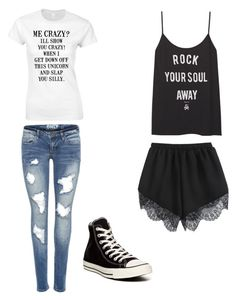 """Be you."" by aricari1301 ❤ liked on Polyvore featuring Converse, women's clothing, women, female, woman, misses and juniors"