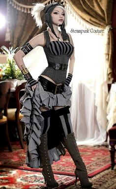 Steam punk. Love the skirt and corset