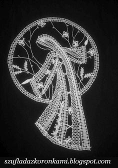 Bobbin Lace Patterns, Human Figures, Lace Heart, Lace Jewelry, Hobbies And Crafts, Madonna, Lace Detail, Silhouettes, Butterfly