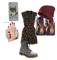 """""""Flowery"""" by alissa33 ❤ liked on Polyvore featuring Dr. Martens"""