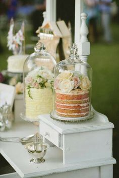 Elegant dessert table - perfectly fancy for a bridal shower!