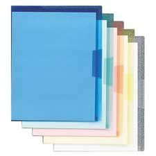 Smead Translucent Poly Project Jackets - Project Jackets, Letter, Poly, Clear/Translucent: Blue/Green/Yellow/Red, 5/Pack