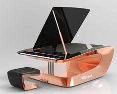 Roland Piano Design Competition Winners - Ellen's Home Page Piano Art, Piano Music, Roland Piano, Piano Digital, Piano Design, Mundo Musical, Homemade Instruments, Colani, Mozart