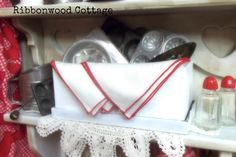 Ribbonwood Cottage: Vintage Toy Baking Center and Tablescape