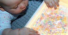 Water Beads sensory bags for babies - Zabawa dla niemowlaka z perłowymi kuleczkami - Czoklele