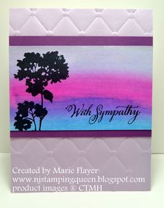 NJ Stamping Queen: Twinkling H2O Painted Sympathy Card for Freshly Made Sketch #271