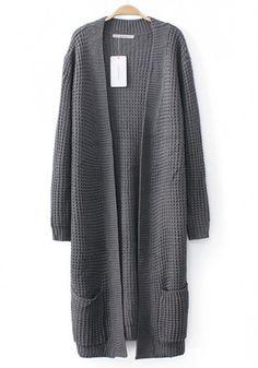 waffle weave cardigan