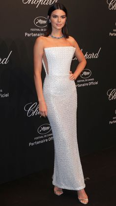 Best Dressed Stars on Cannes Red Carpet 2017 - Kendall Jenner in a Ralph & Russo strapless white dress