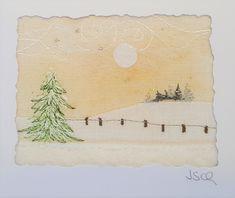 """""""Tanne im Winter"""", 6,5 x 8,5 cm"""
