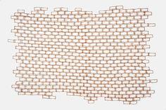 """Wall"" Shredded money, thread, 34 x 52 inches, 2017  Made by Lisa Kokin"