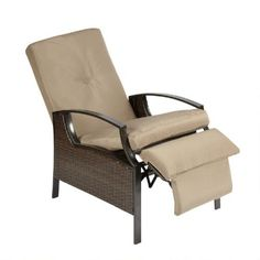 One of my favorite discoveries at ChristmasTreeShops.com: 3-Position Indoor/Outdoor Recliner Chair