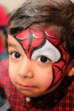 When you think about face painting designs, you probably think about simple kids face painting designs. Many people do not realize that face painting designs go Superhero Face Painting, Face Painting For Boys, Face Painting Designs, Paint Designs, Body Painting, Spider Man Face Paint, Spiderman Makeup, Spiderman Marvel, Costume Makeup