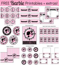 Imprimibles gratis Barbie + extras! - Printabelle