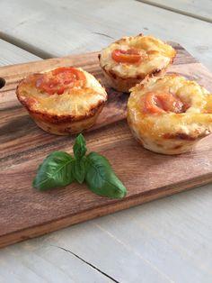 Pizza muffins med kylling og ost | Homemade
