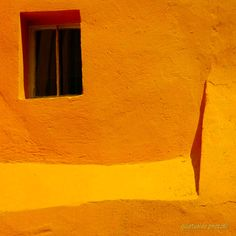 Orange Wall by Avner Leon