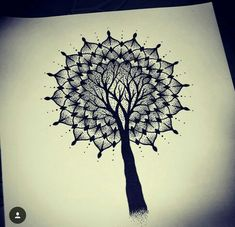 Tree mandala tattoo