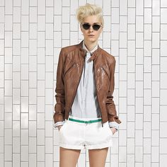 Vintage Leather Pocket Jacket - $595