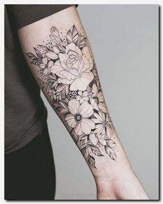 Nice floral arrangement sunflower tattoos, forearm flower tattoo, flower tattoo on forearm, small Tattoo Girls, Girls With Sleeve Tattoos, Girl Tattoos, Tattoos For Guys, Tatoos, Forearm Tattoos For Women, Tattoos Pics, Tattoo Images, Wolf Tattoos