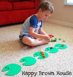 fun frog counting/sorting ideas