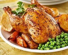 Deliciously succulent this roasted #chicken dish, with a quick and easy to make marinade, creates a taste sensation!