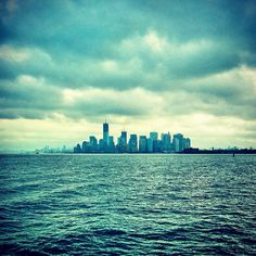 View of downtown NYC from the Staten Island Ferry