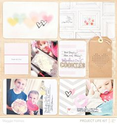 I created two Project Life pages this month using the Studio Calico August Kits >> Marks & Co.This first one I used the Project Life Kit only with the exception of that awesome wood veneer alphabet which I thought was in the PL kit but was actually in the Main kit. Oops!On this…
