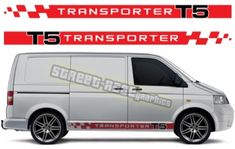 VW transporter racing stripes decals 014 VW Transporter side racing stripes graphics kit with Transporter lettering. We can make these racing stripes to suit all VW Transporters. Kit contents: 2 x x racing stripe graphics with Volkswagen Transporter, Vw T5, Main Colors, 2 Colours, Racing Stripes, Design Show, Campervan, Color Show, Colorful Backgrounds