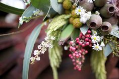 not really a whole bouquet here, but i like the subtle flowers Camp Wedding, Wedding Bride, Wedding Blog, Our Wedding, Wedding Stuff, Wedding Ideas, Bridal Flowers, Native Plants, Planting Flowers
