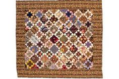 Star Quilt Patterns and Quilt Block Patterns: Scrappy Vintage Variable Star Quilt Pattern