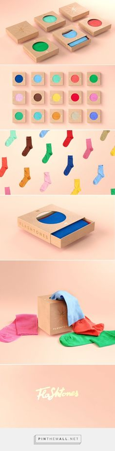 Just had a huge flashback. kids book where theres a circle for you to feel the material Flashtones socks packaging by Petr Kudlacek