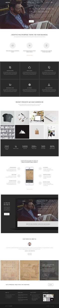 Arena Multipurpose WordPress Theme on Behance