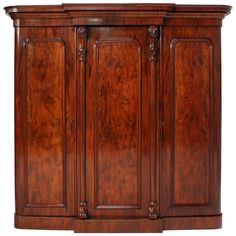View this item and discover similar for sale at - A fabulous Victorian breakfront wardrobe of super quality and dating to circa Featuring richly colored well figured mahogany and crisply carved floral Wardrobe Furniture, Dream Furniture, Antique Furniture, Furniture Ideas, Antique Vanity, Victorian Fashion, Doors, The Originals, Antiques