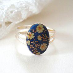 Vintage Cameo Ring Oriental White Roses on by MissMaryElliott, $14.00