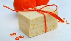 Make your own citrusy natural soap with sweet orange, may chang, and cedar essential oils. Tiny flecks of orange zest add color and extra fragrance.