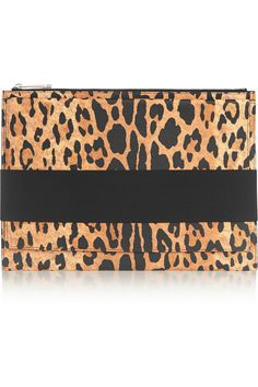 GIVENCHY Clutch in leopard-print textured-leather  AU$777.09 https://www.net-a-porter.com/products/587747
