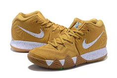 45bf9d74555c 2018 Nike Kyrie 4 Cinnamon Toast Crunch Metallic Gold Coin White BV0426-900- 4