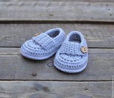 Для новорожденных, ручной работы. Ярмарка Мастеров - ручная работа. Купить Пинетки ботиночки для новорожденного мальчика.. Handmade. Пинетки
