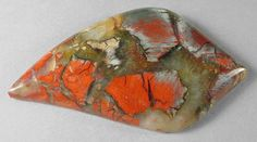 Forest Fire Jasper cab Silverhawk's designer gemstones. Mineral Chart, Jasper, Agate, Jewel, Fire, Rock, Gemstones, Painting, Design