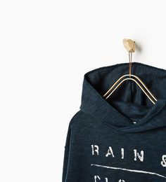 "ZARA - KIDS - ""RAIN & CLOUDS"" SWEATSHIRT"