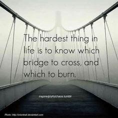Choose your bridges carefully! www.konkura.com