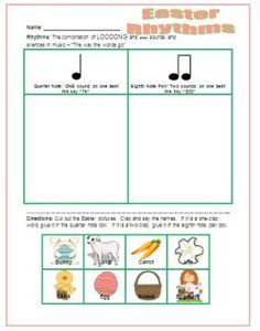 Spring and Easter Rhythm Activities (Elementary Music). Create a more advanced version for H.S.? Would they like it?