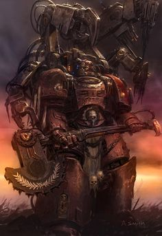 Colored Up A Techmarine Of The Blood Angels Original Artist Is Adrian Smith
