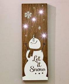 Wooden LED Holiday Signs More