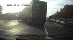 AMAZING! Crash sends truck driver gracefully out of windshield